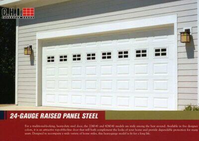 24 Gauge Raised Garage Door By Campbell Overhead Door