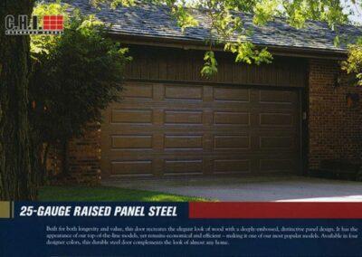 24 Gauge Raised Panel Door By Campbell Overhead Door