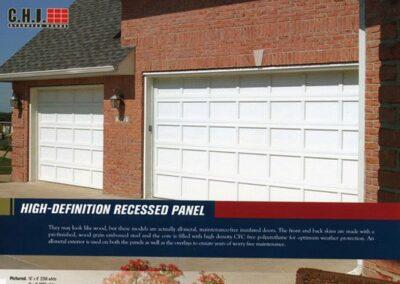 Recessed Panel Garage Door By Campbell Overhead Door